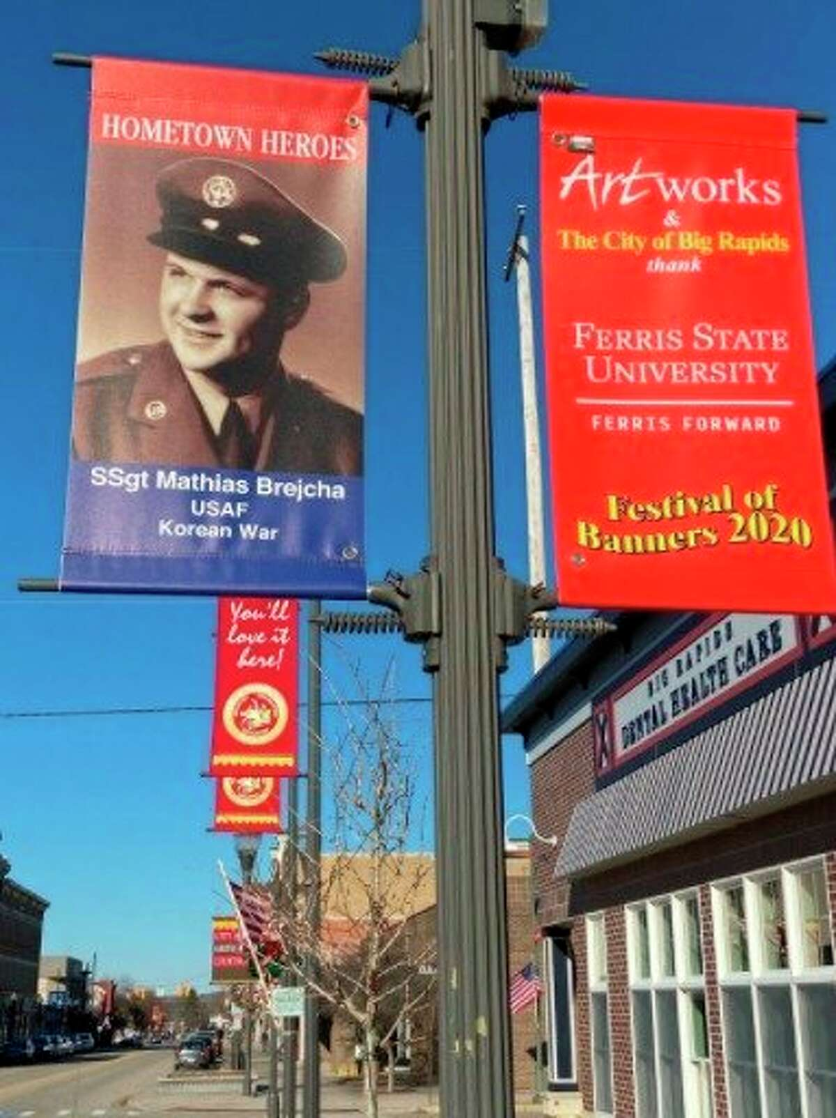 Artworks of Big Rapids is now taking applications for the Hometown Heroes Banner program until Aug. 13, the proceeds from which will gotoward supporting local veteran programming and services. (Courtesy/Mark Brejcha)