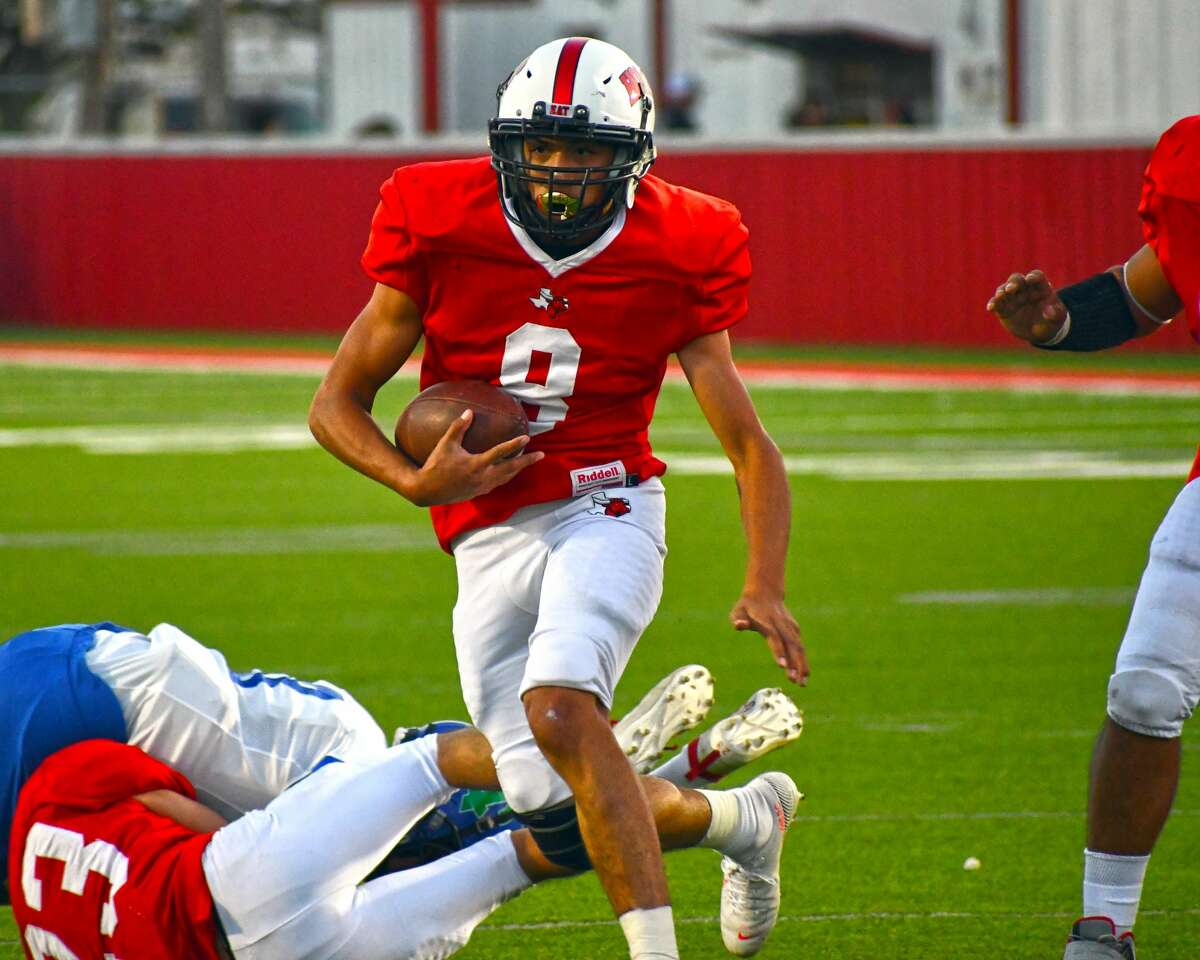 Lockney's Nathan Ceniceros earned first team all-district honors on both offense and defense for the Longhorns in 2020.
