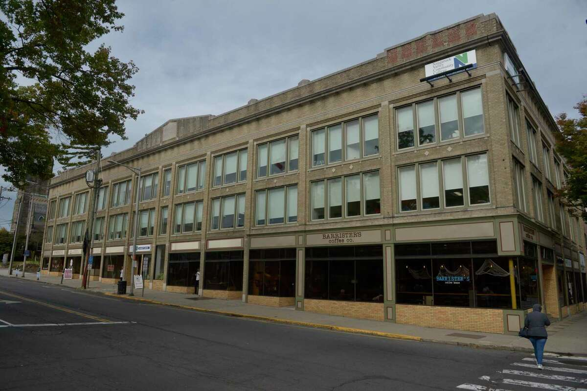 Naugatuck Valley Community College is offering a course on cannabis production in the fall. The college has a main campus in Waterbury and another campus, pictured here, on the corner of Main Street and West Street in Danbury. Thursday, October 10, 2019, in Danbury, Conn.