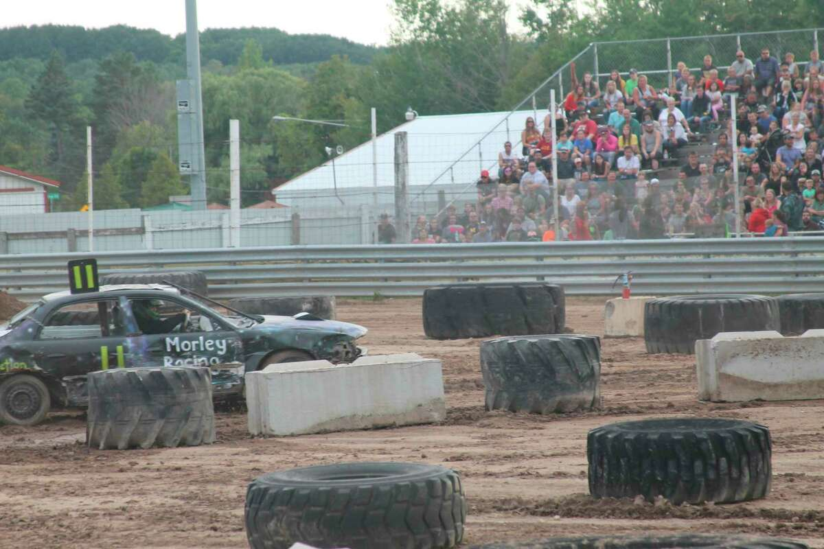 There are three nights of TNT Demolition Derby events slated to take place at the Manistee County Fair in August; they tend to be a crowd favorite. (File photo)