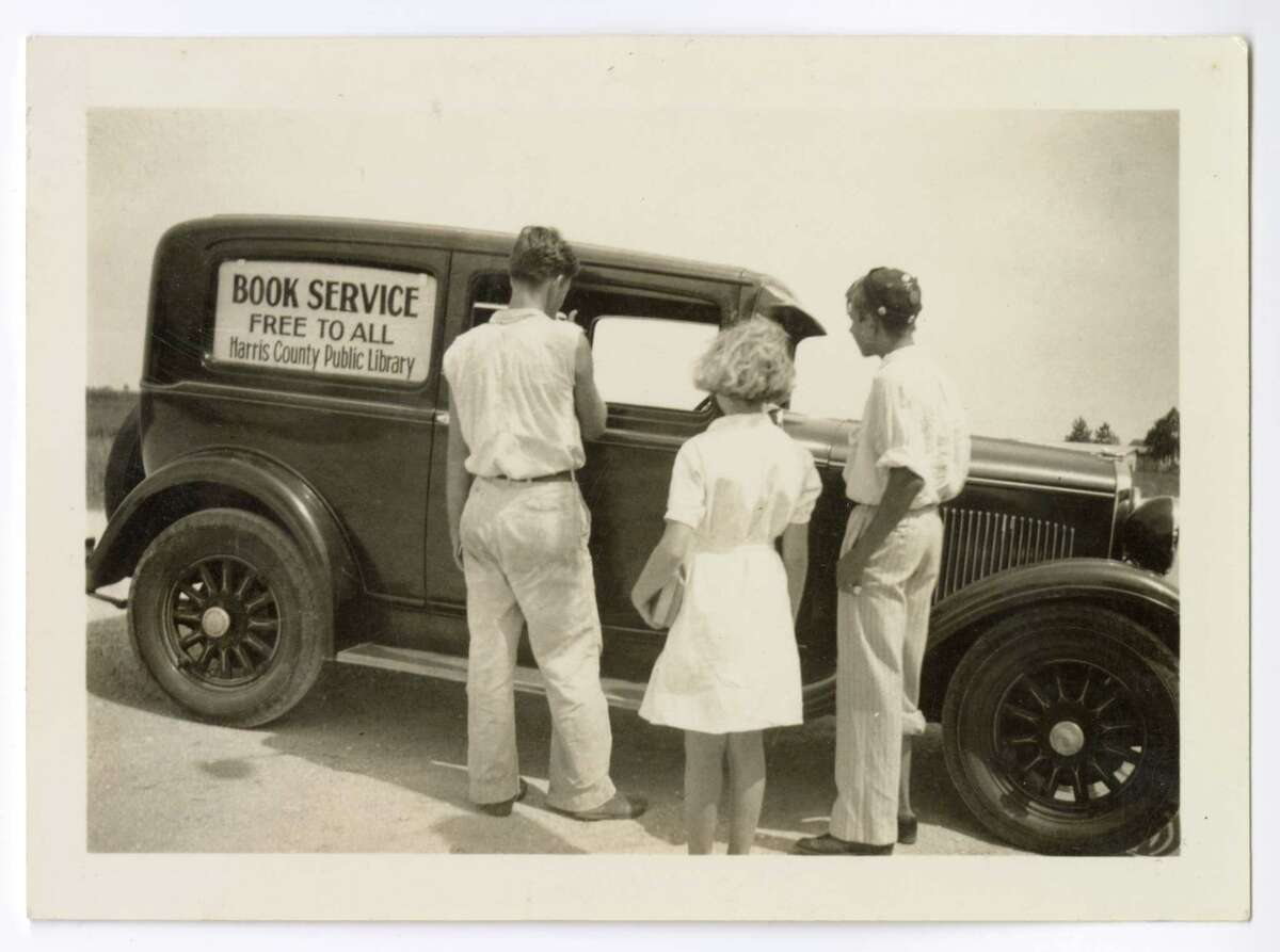 Harris County Public Library bookmobile in the Mykawa District from 1933.