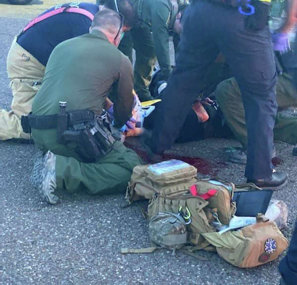 A pair of allegedly intoxicated individuals were found bleeding excessively from their head, according to the USBP.