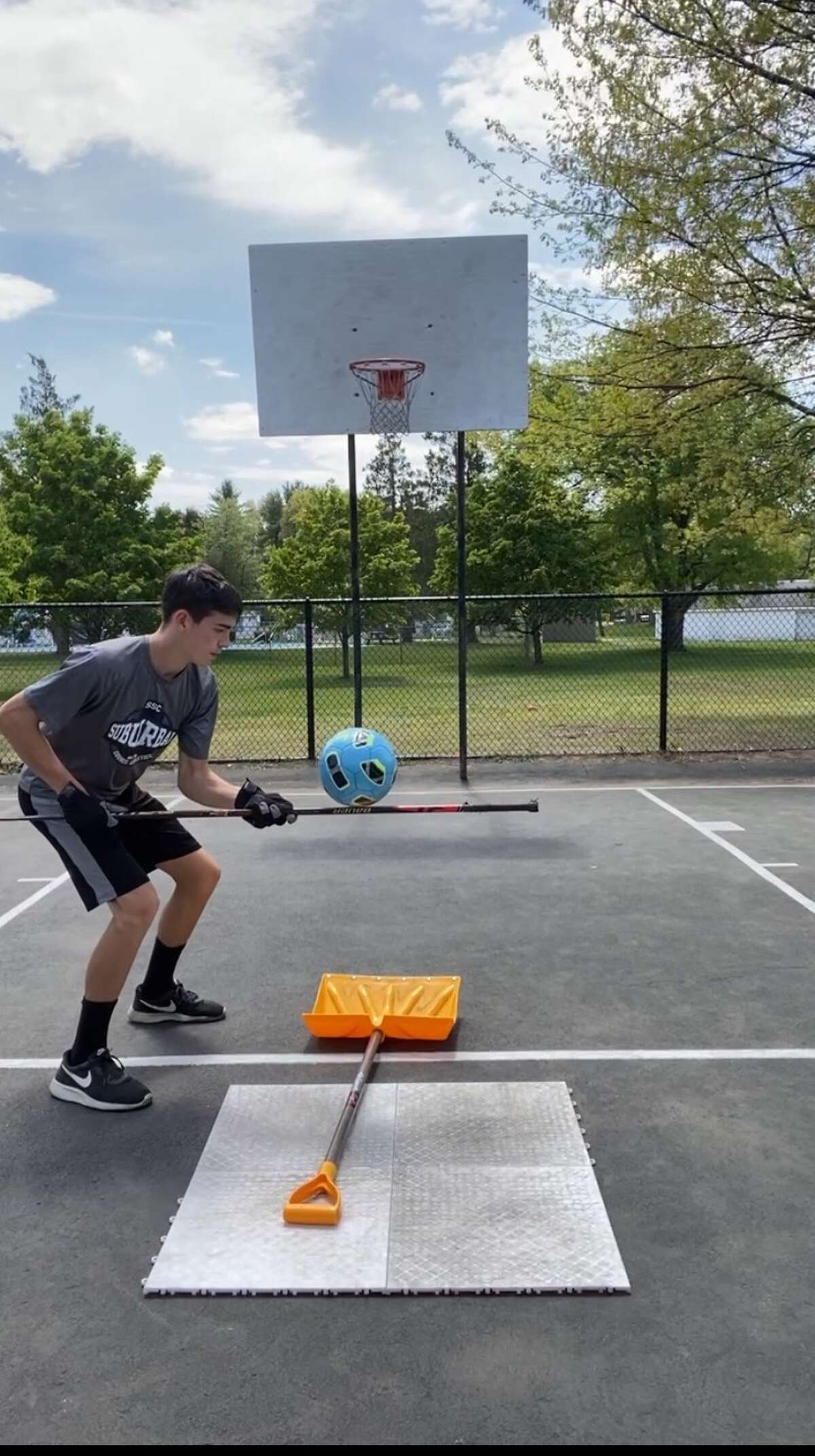 Carson Curran, a 17-year-old from Clifton Park, creates viral videos of trick shots.