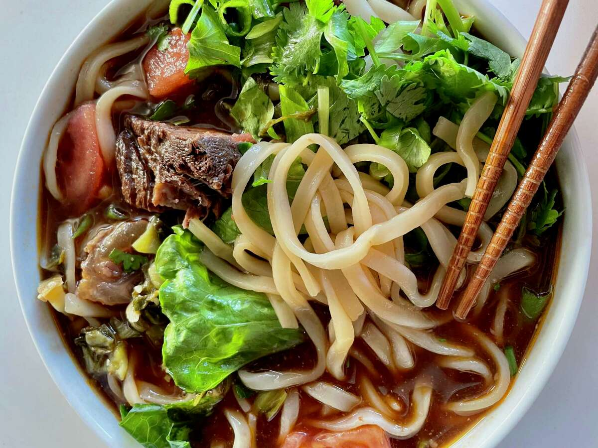 Taiwanese beef noodle soup from a new Cupertino pop-up.