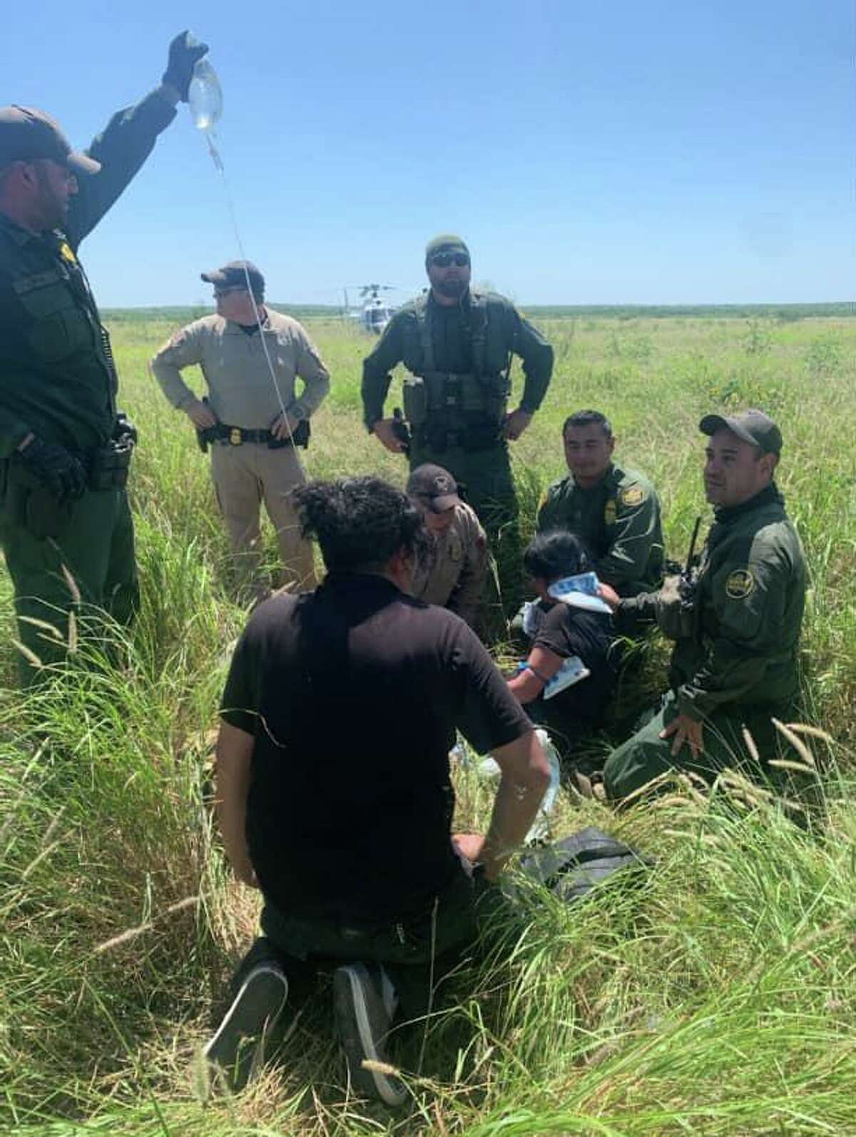 The U.S. Border Patrol announced that a woman was treated for dehydration.