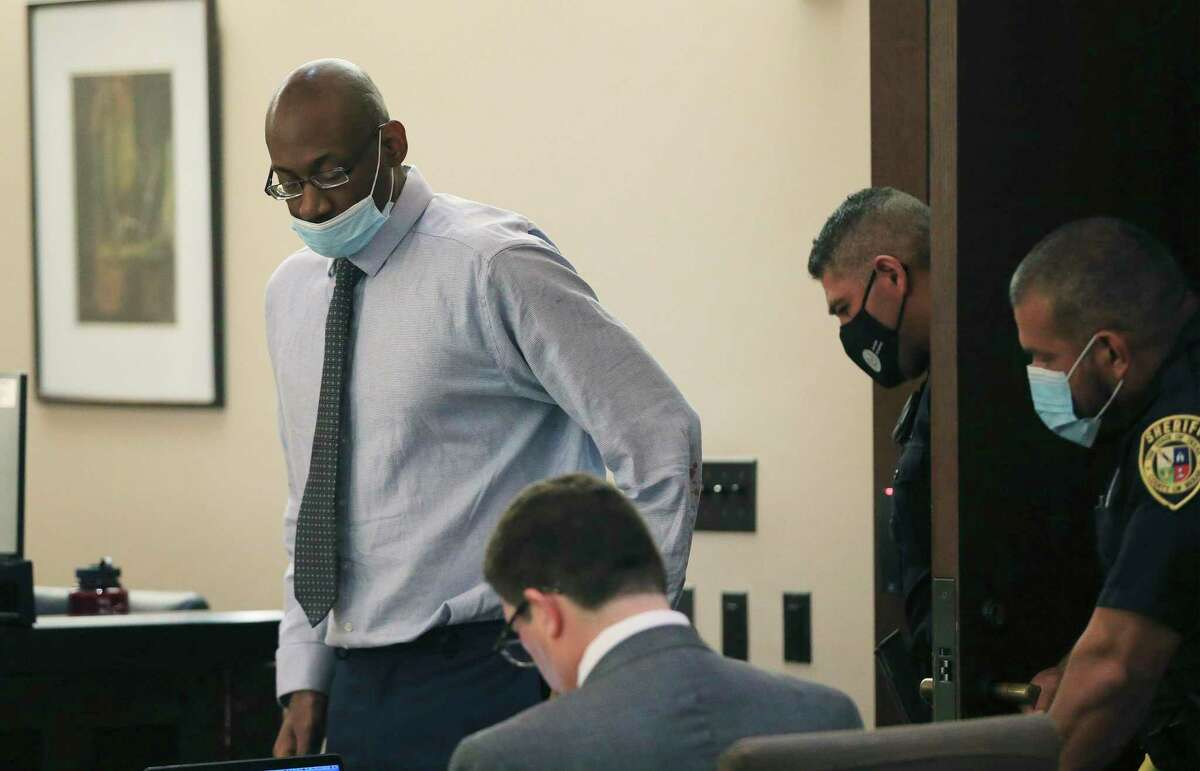 Otis McKane enters the courtroom for the third day of testimony in the punishment phase of his capital murder trial Monday.