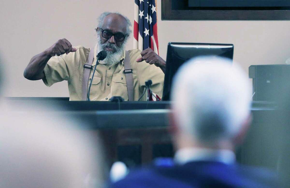 Larry Hill, the grandfather to the son of Otis McKane, testifies about his daughter's rocky relationship with the defendant as prosecutors seeking the death penalty present testimony in the punishment phase of his capital murder trial.
