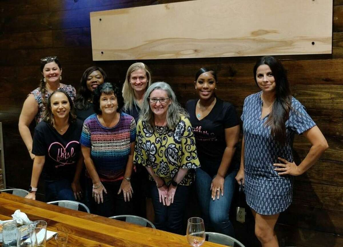 The Fort Bend Junior Service League's Beneficiary Review Committee is making plans for the new league year. Its members include front row: Monique Brown, Lori Gorewitz and Alexis Geissler; back row: Jennifer Bombach, Jennifer Small, Misty Gasiorowski, Lindsey Bradford and Lori Gier; not pictured: Tanesha Mosley and Pam Spencer.