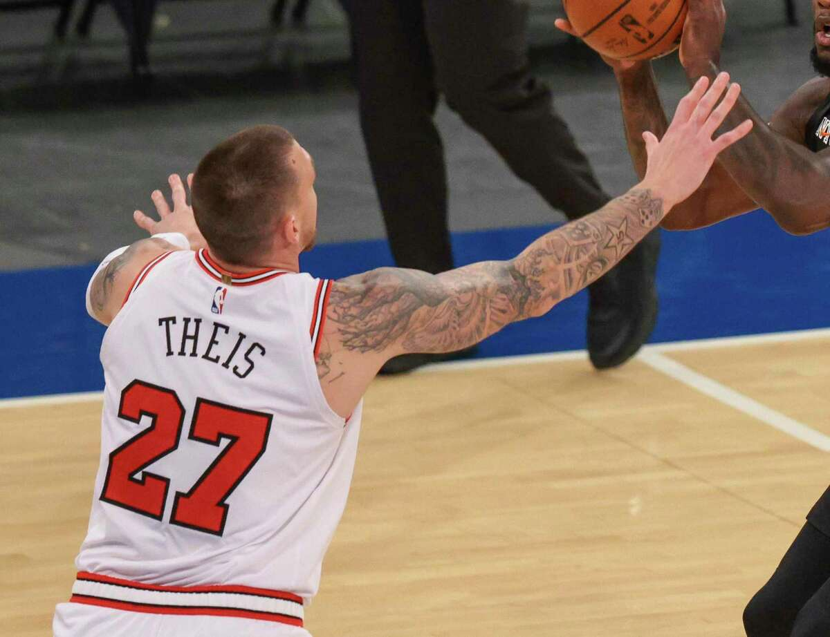 Daniel Theis, who finished last season with the Bulls after starting it with the Celtics, gives the Rockets a 6-8 center who as a defender can switch on the perimeter.