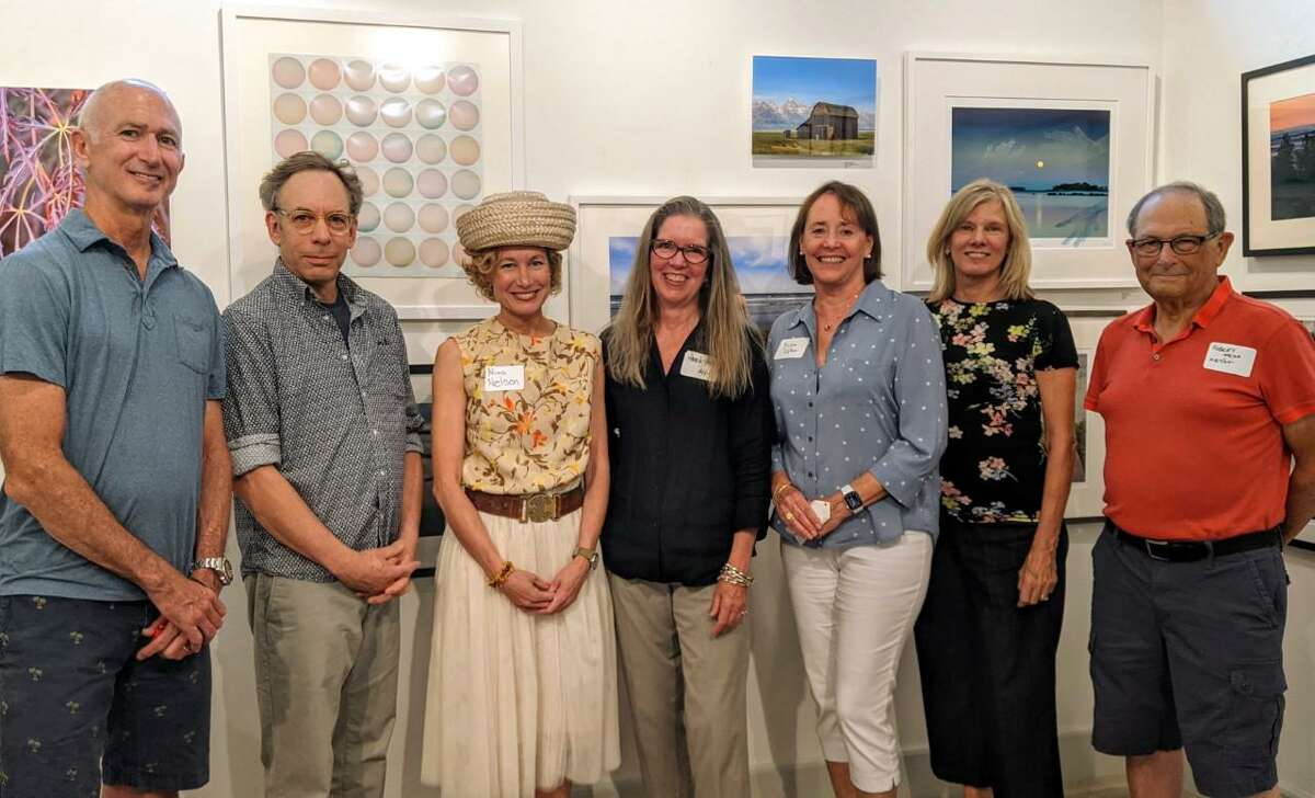 """A new show at the Rowayton Arts Center, (RAC), that is titled: """"Photography and Sculpture,"""" is on view in the center's gallery through Sunday, Aug. 29. The exhibition features over 60 pieces of artwork by area artists. The show opened on Sunday, Aug. 1. Pictured are the local artists, who were recently honored at the center on Sunday, Aug. 1."""