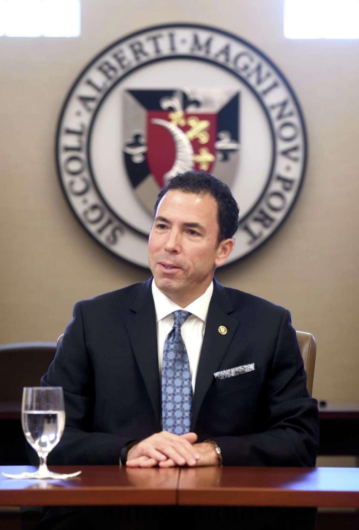 Marc Camille, president of Albertus Magnus College, in 2017.