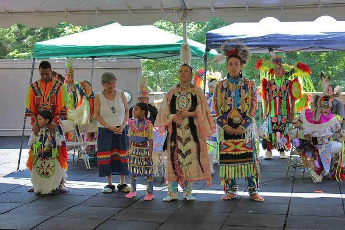 The green corn festival dance troupe.