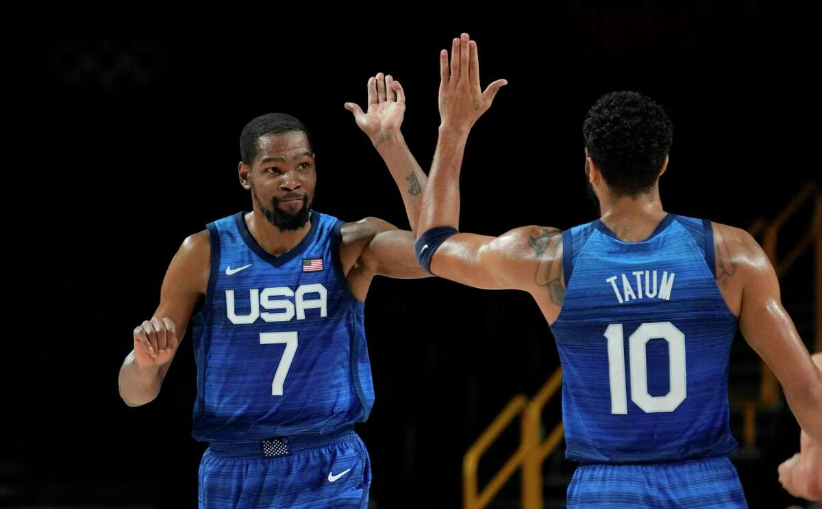 Kevin Durant and Jayson Tatum found the right formula to beat Spain and advance to semifinals at Olympic tournament.