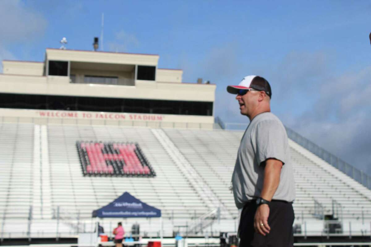 Hargrave coach Mike McEachern begins his 30th year of coaching and his 16th season as a head coach at Hargrave High School in Huffman.
