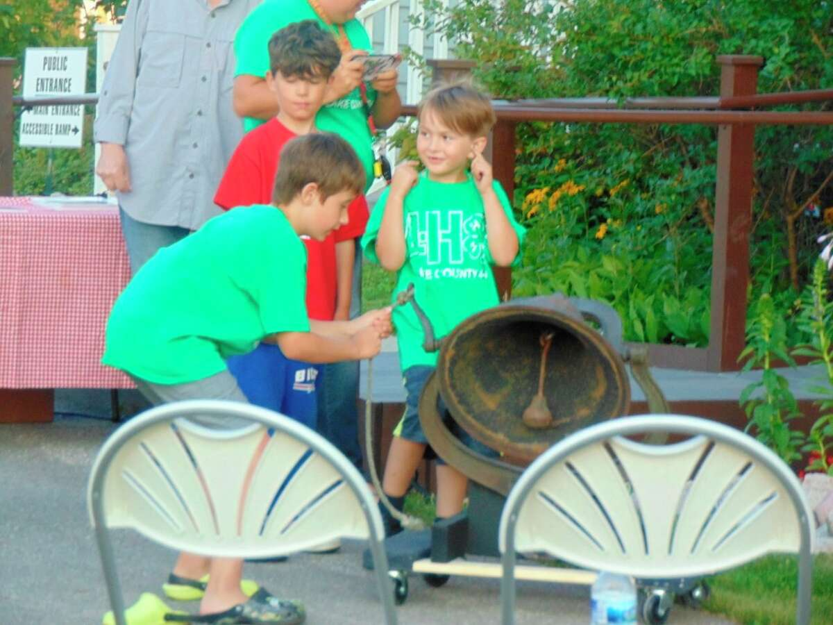 4-H youth got to ring the old school bell from the past town of Marlborough. (Star photo/Shanna Avery)
