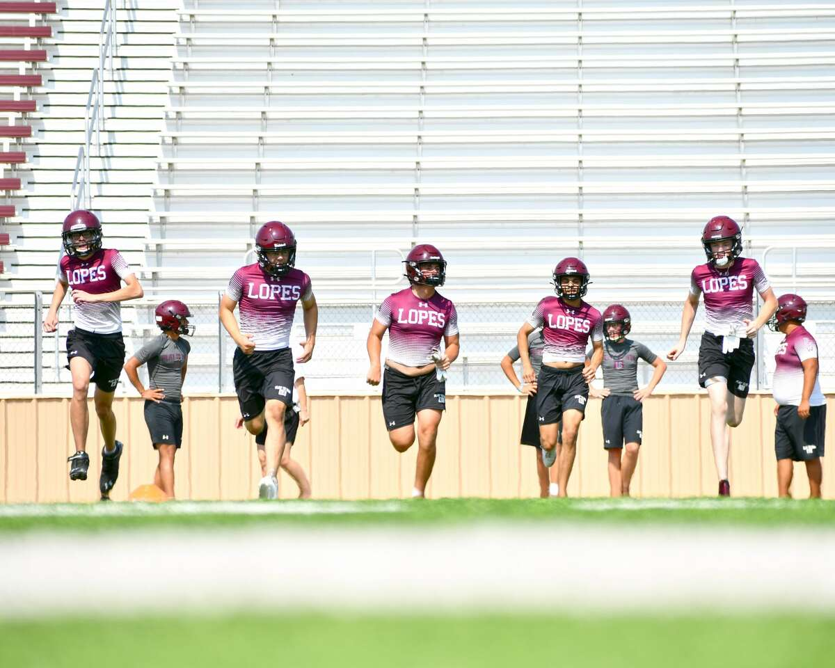 The Abernathy football team conducted its second day of practice on Tuesday.