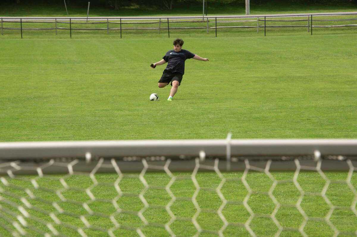 Jake Maneri of Clifton Park is seen on one of the soccer fields at Clifton Commons on Tuesday, Aug. 3, 2021 in Clifton Park, N.Y.