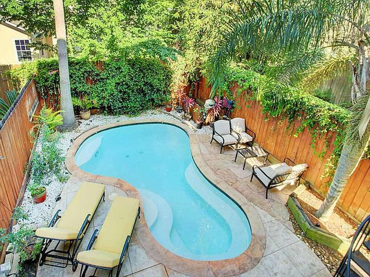 This townhouse comes with its own private pool.