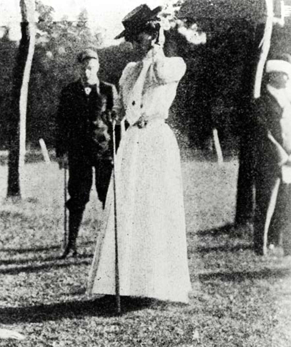 Margaret Abbott of Chicago was the first American woman to win an Olympic event, capturing first place in women's golf at the second of the modern Games, in Paris in 1900. Incredibly, she thought she was competing in a local amateur event, and not in the Olympics.