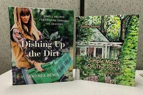 """""""Dishing Up the Dirt: Simple Recipes for All Seasons From Your Garden"""" by Andrea Bemis focuses on cooking with many ingredients grown in your backyard or found at the local Farmer's Market. Her philosophy is to eat as close to the land as possible. (Courtesy photo)"""