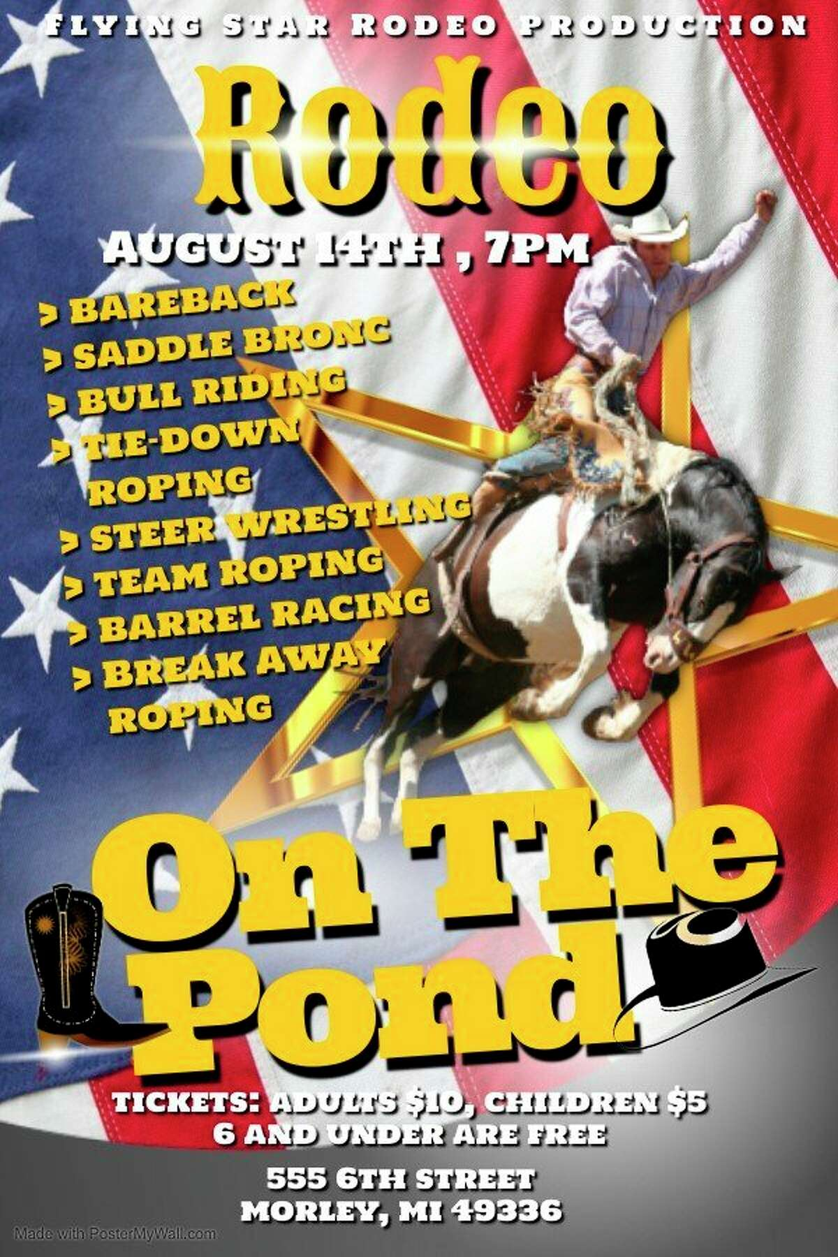 Morley is hosting the Rodeo on the Pond on August 14, which will include several riding and roping events as well as food trucks and drinks for attendees of all ages. (Courtesy/Anne Masunas)