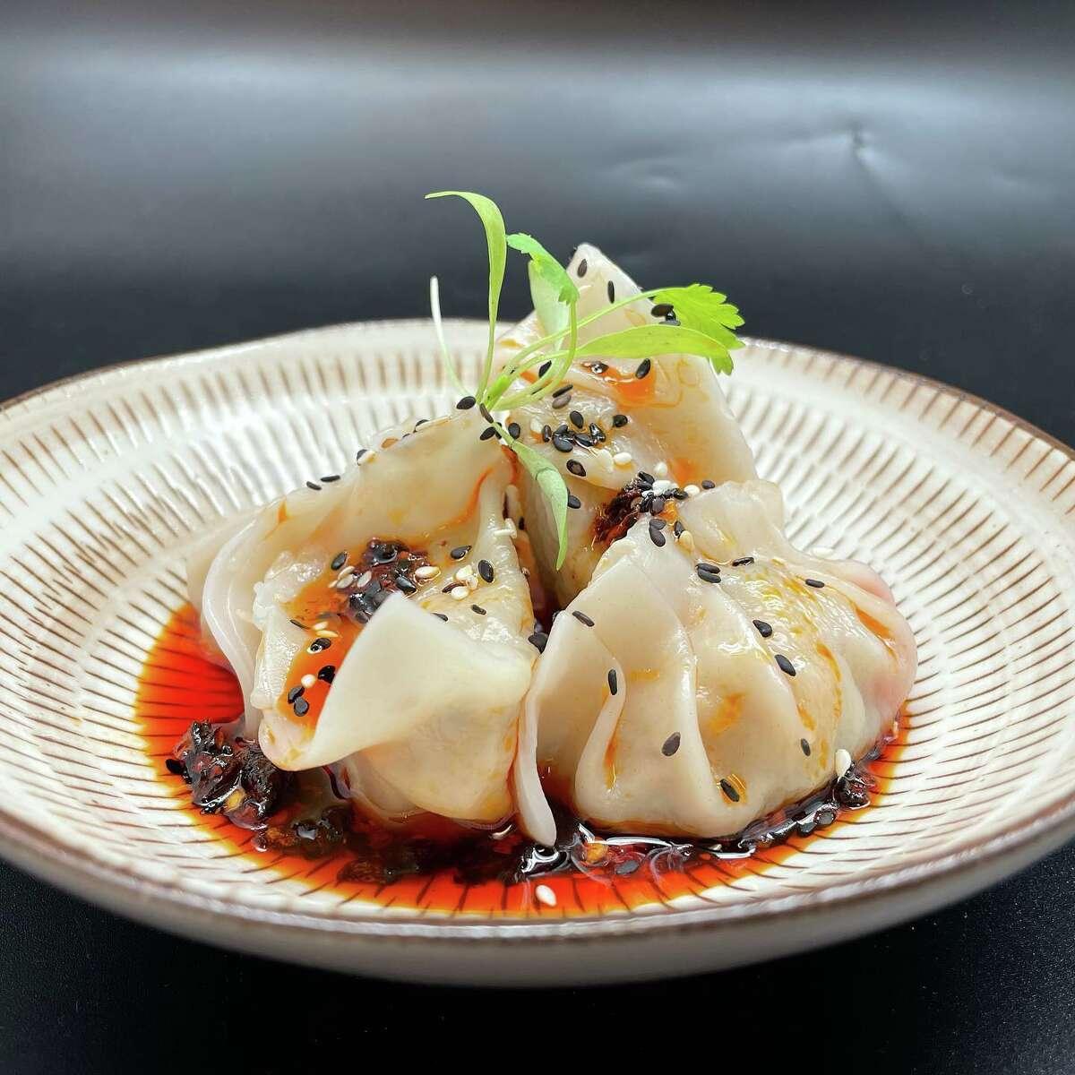 Szechuan dumplings from Little Dumpling House in Westport