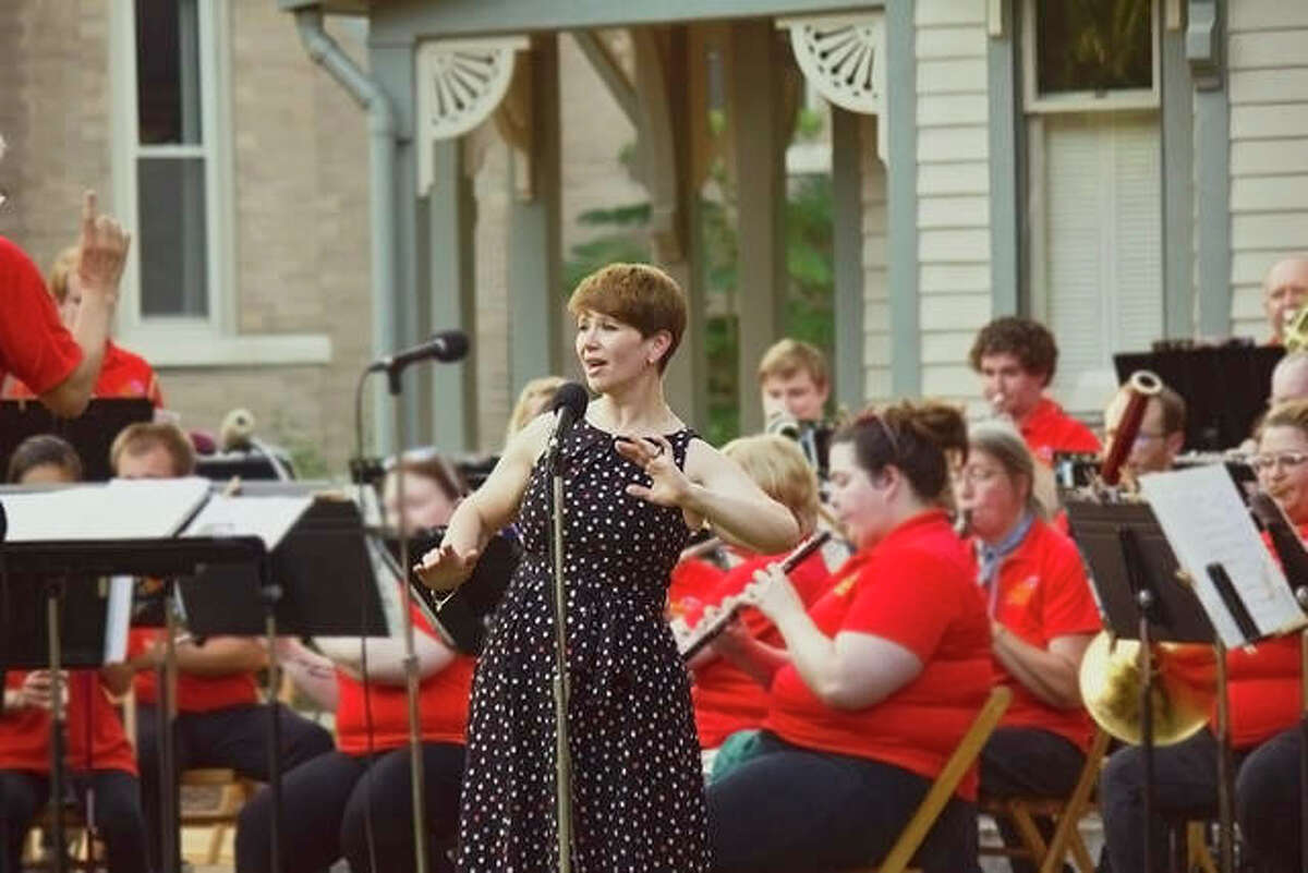 Robyn Brandon is the featured soloist for the final week of summer concerts, Thursday and Sunday, by the Alton Municipal Band.
