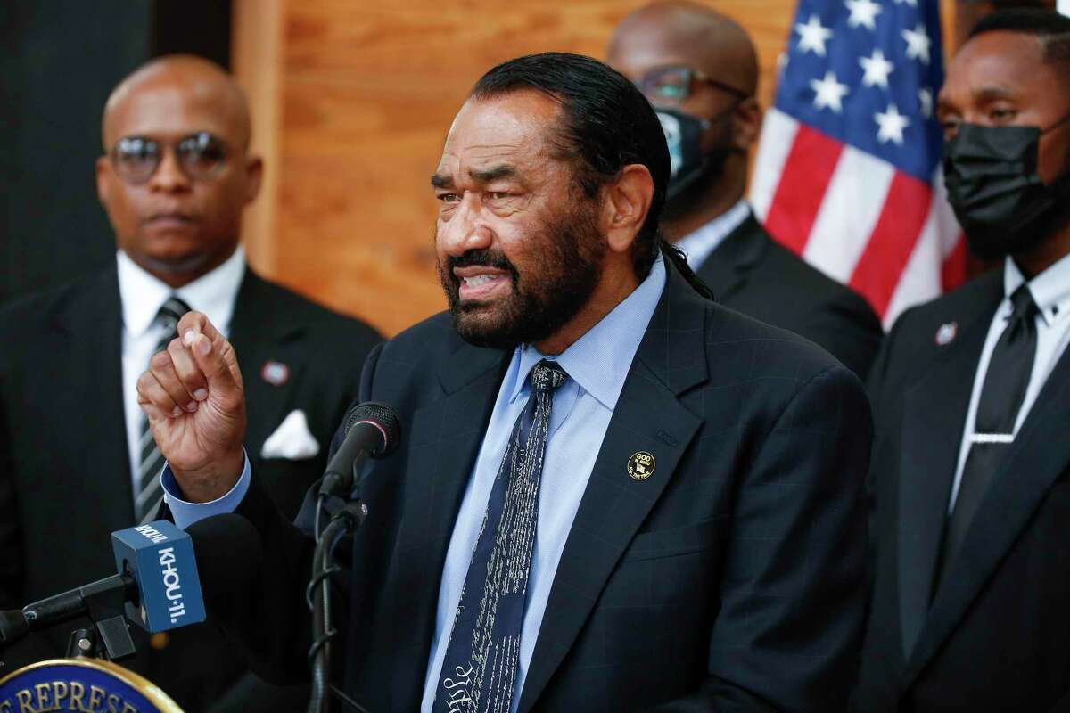 Congressman Al Green at a news conference in Houston on Sunday, July 18, 2021.