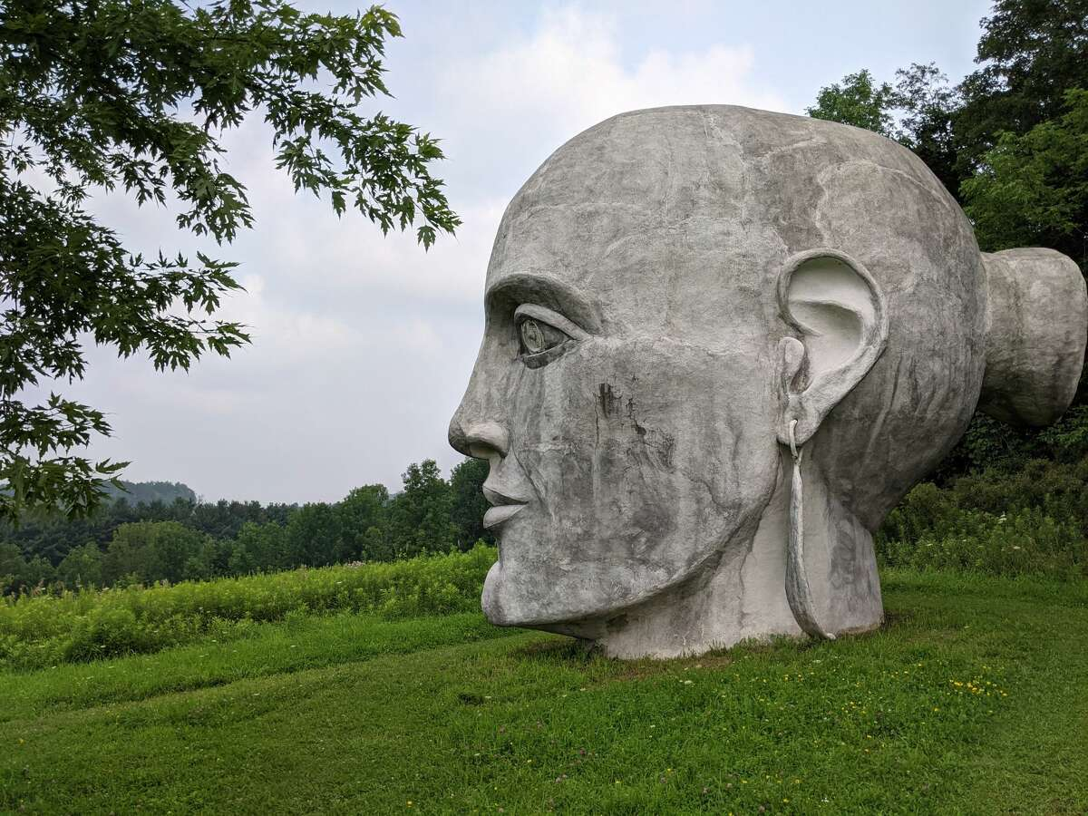 """""""Gaia"""" is the most prominent artwork in Taconic Sculpture Park, perhaps the best-known roadside art park in Columbia County. But it's not the only one."""