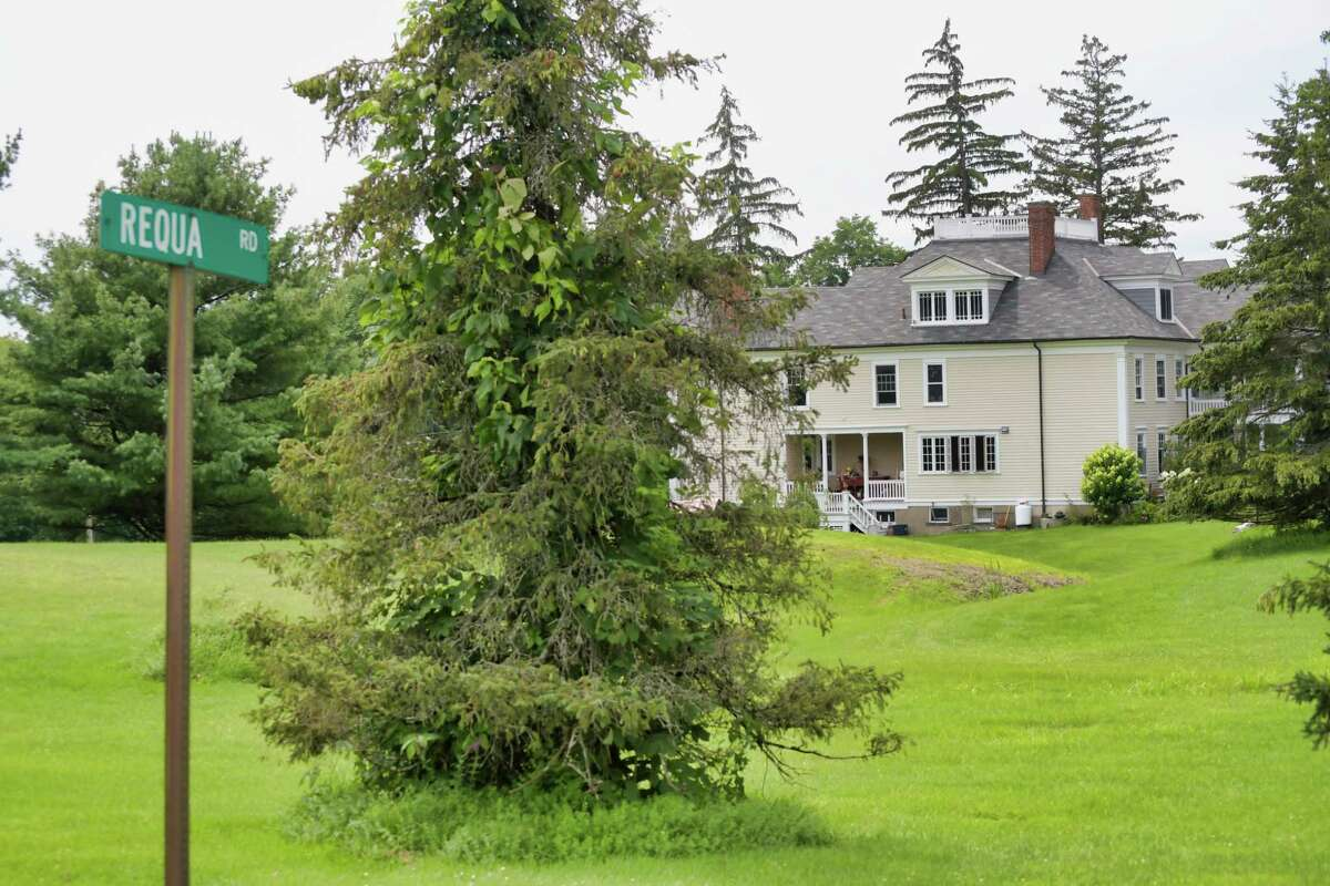 Home prices in Columbia and Greene counties climbed 40 percent over the past 12 months, according to a new report. This property for sale at 9 Requa Road, photographed on Tuesday, Aug. 3, 2021, in Stuyvesant, N.Y., has five bedrooms and sits on 33.5 acres. It is listed for $1,695,000.