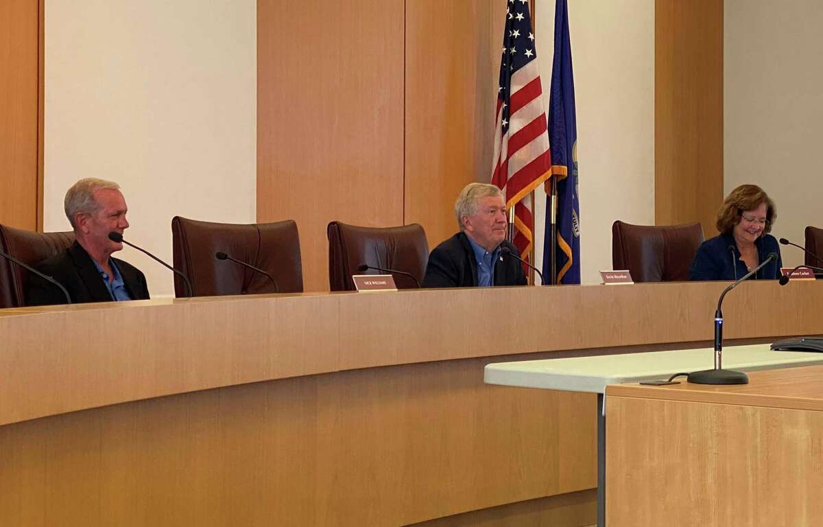 The Board of Selectmen met in person in New Canaan Town Hall on Tuesday, Aug. 3, 2021.