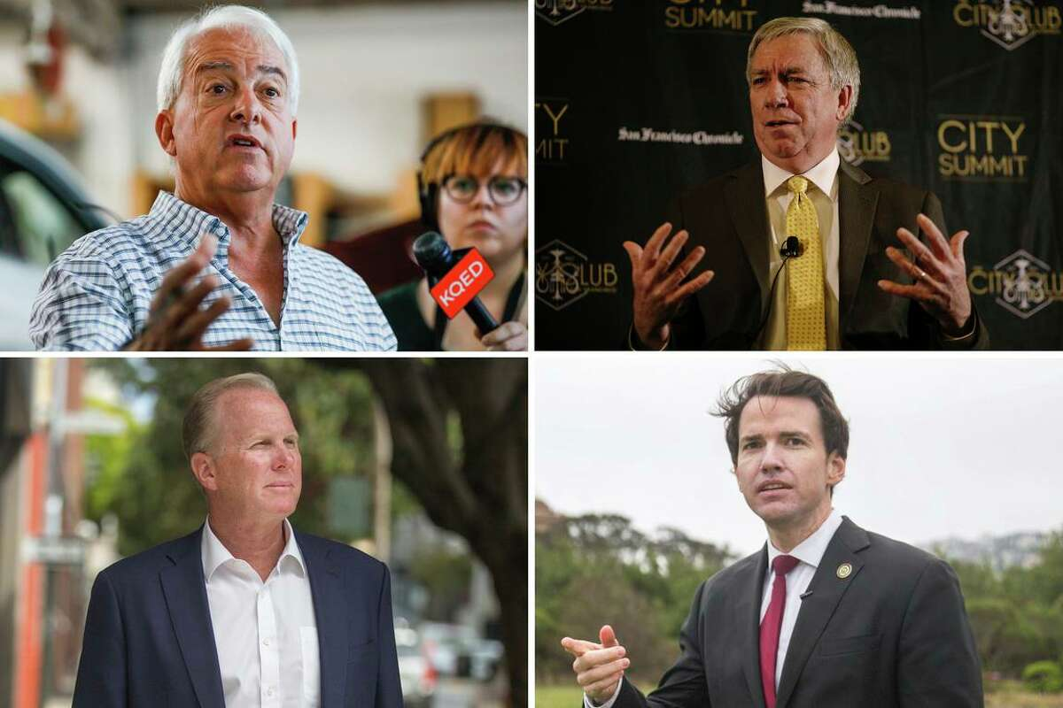 (From upper left clockwise) Republican gubernatorial candidates John Cox, Doug Ose, Kevin Kiley and Kevin Faulconer will participate in a debate on Wednesday. The 90-minute debate will be televised live in a couple of major markets, including KTVU Fox 2 in the Bay Area, as well as online and by the Salem Radio Networks. Newsom's camp did not respond to an invitation from organizers to participate.