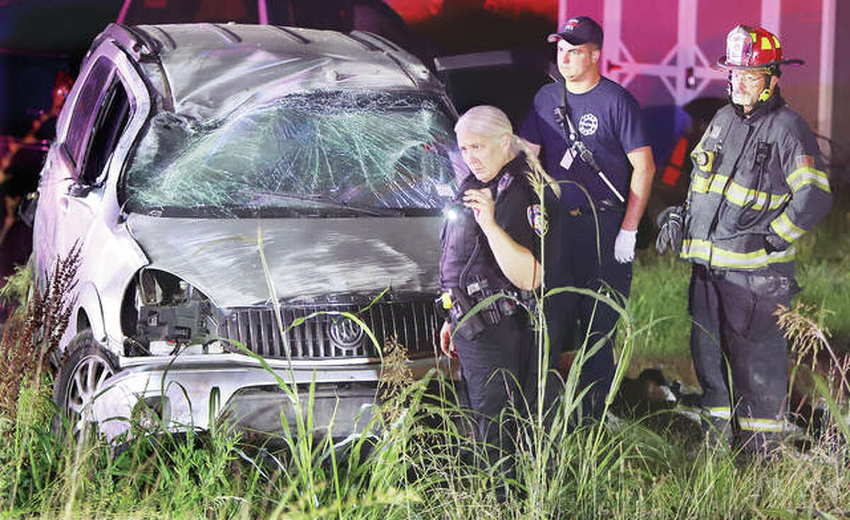 No injuries were reported in a rollover accident Monday evening on Sheppard Street at Olmstead Way in Alton. Police arrested the passenger in the vehicle and took him into custody on an outstanding warrant.