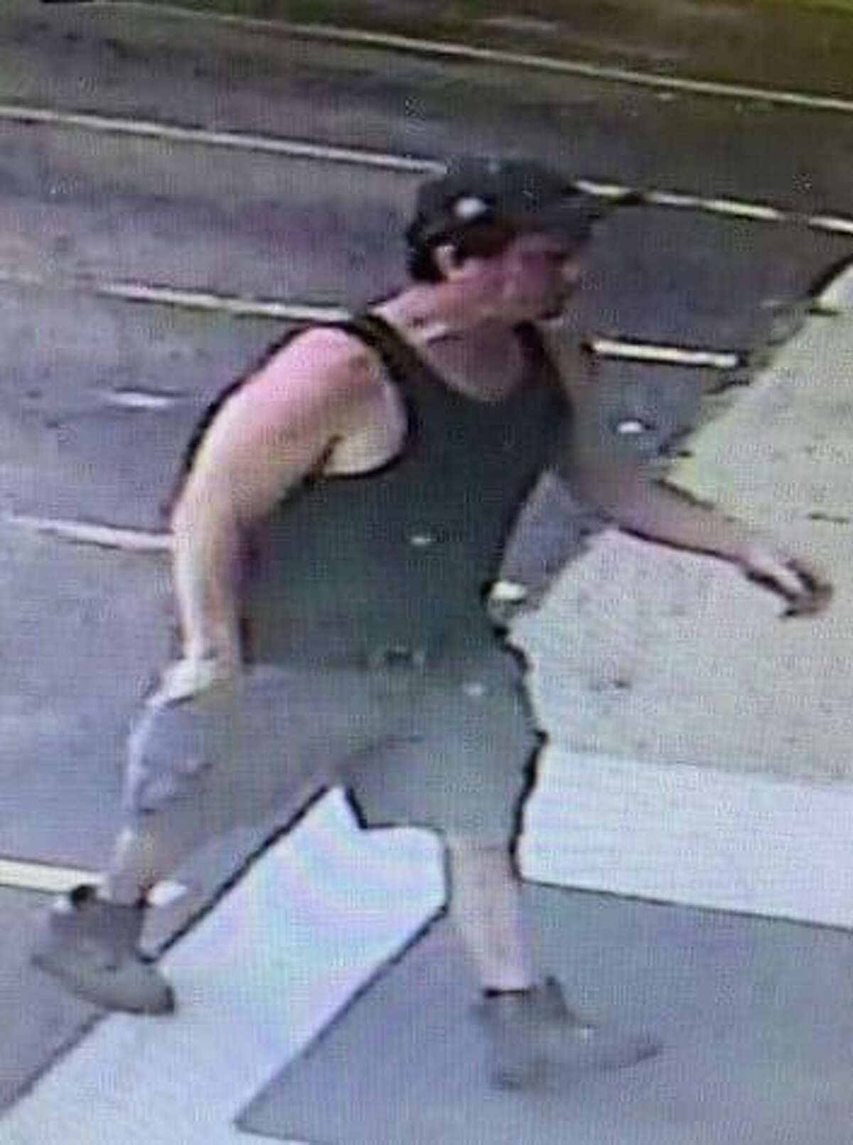 The suspect in the break-in at Town Line Liquor in Torrington is described as around 5-feet, 10-inches to 6-feet tall and has a stocky build.