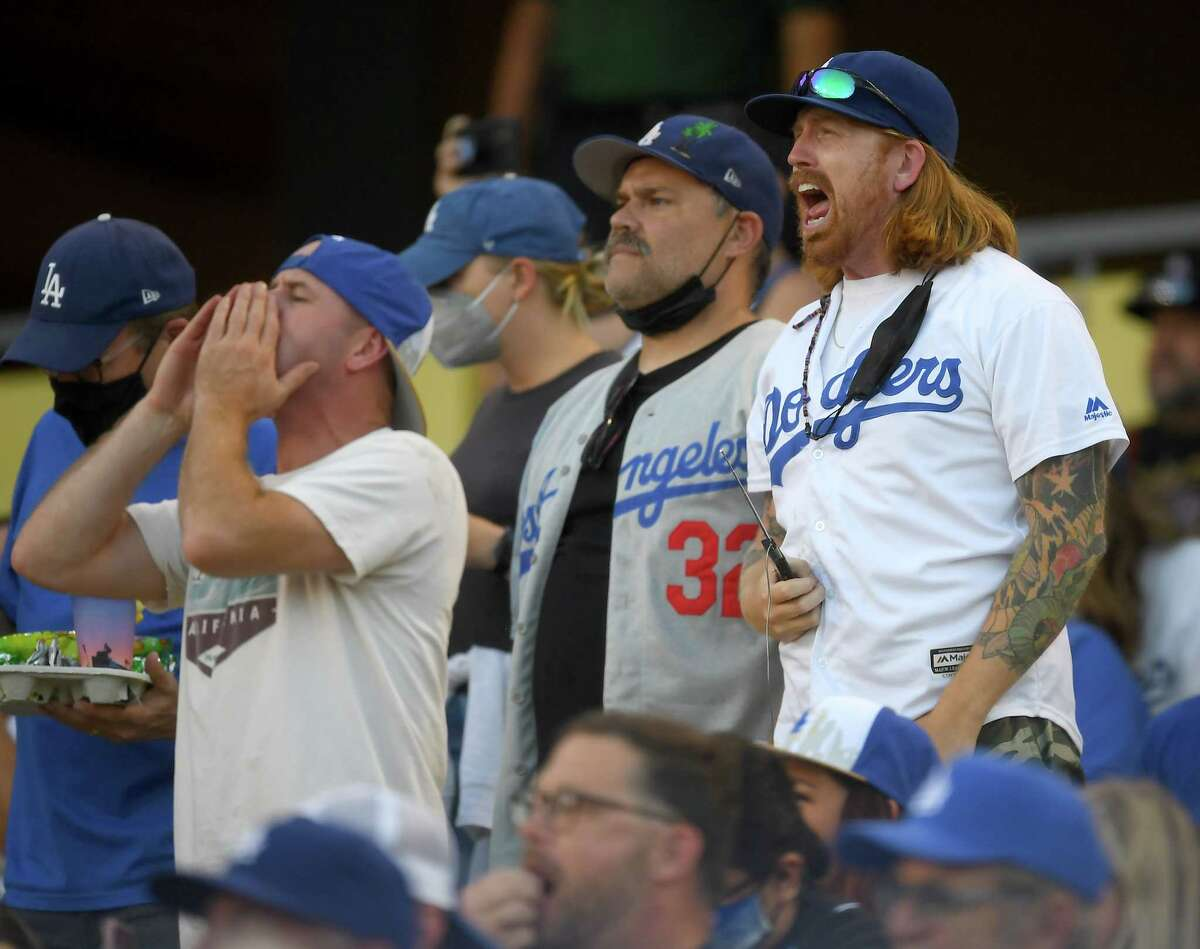 Los Angeles fans boo the Astros in the first inning of Tuesday's game at Dodger Stadium.