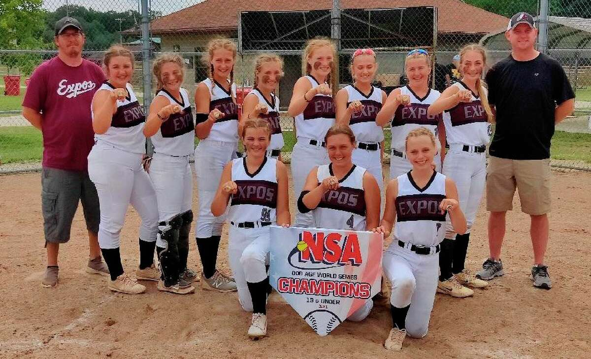 It was quite a summer for the Michigan Expos 13U softball team based out of Evart. (Courtesy photo)
