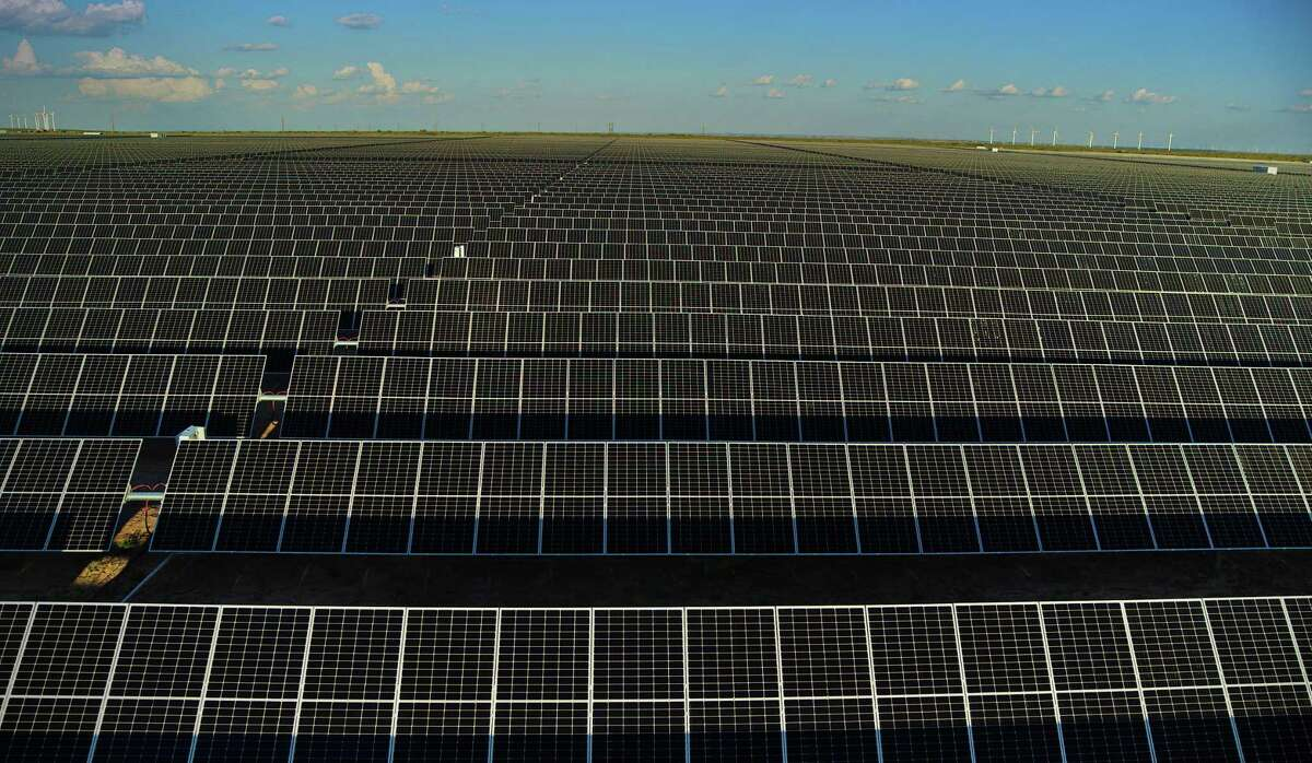 A solar farm soaks up the West Texas sun. Don't listen to renewable energy deniers. The technology is there, and rapidly developing, for a green shift in our energy sources.