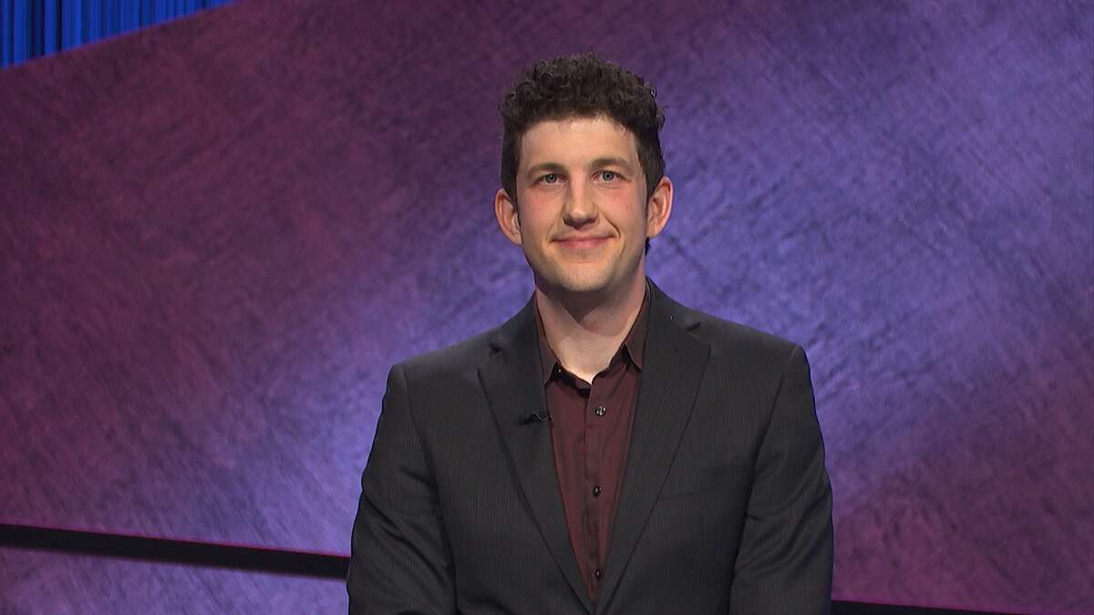 """Yale University PhD student Matthew Amodiohas been on a """"Jeopardy!"""" winning streak since he first began competing on the quiz show on July 21, 2021."""