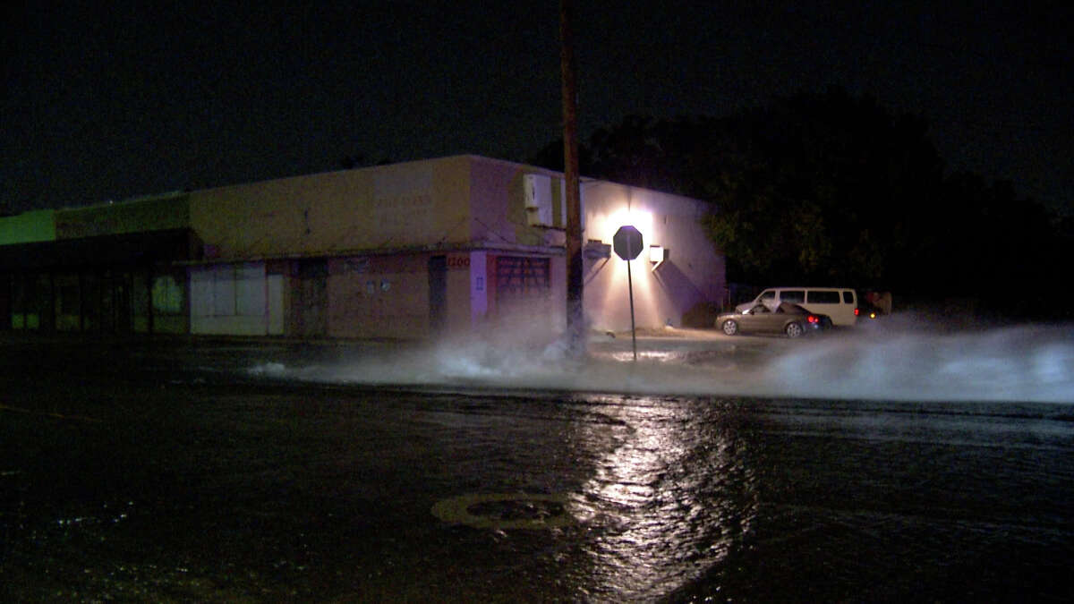 Just after 4 a.m., suspects removed the caps and turned on the hydrants near West Avenue and Sacramento Street on San Antonio's North Side.