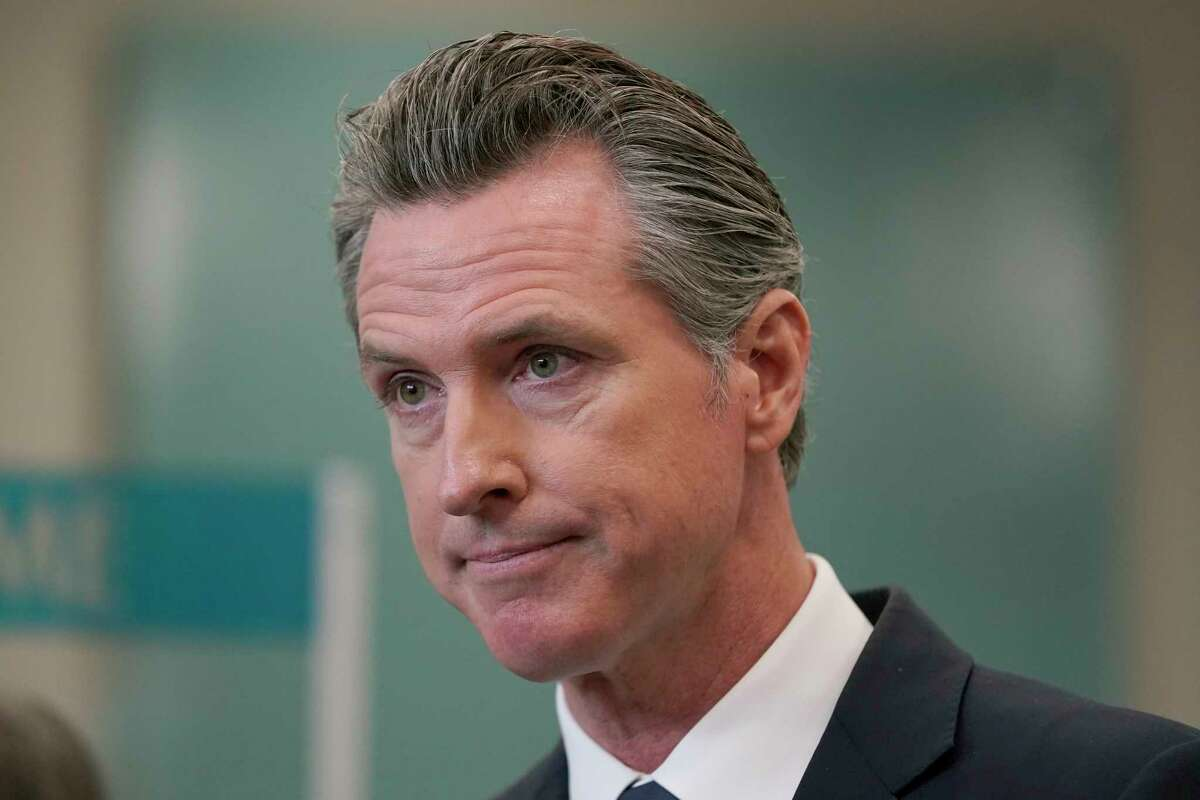 FILE - In this July 26, 2021, file photo, Gov. Gavin Newsom appears at a news conference in Oakland, Calif.