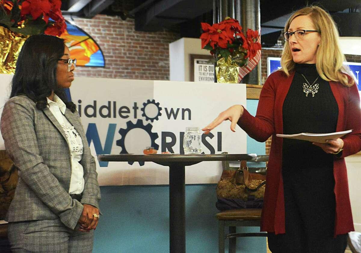 Rebecca Lemanski, right, is director of Middletown Works.