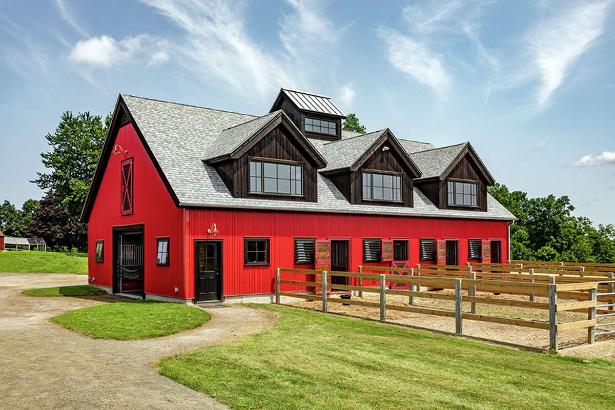 The home alsohas an insulated horse barn with six stalls and auto-waterers for horses.