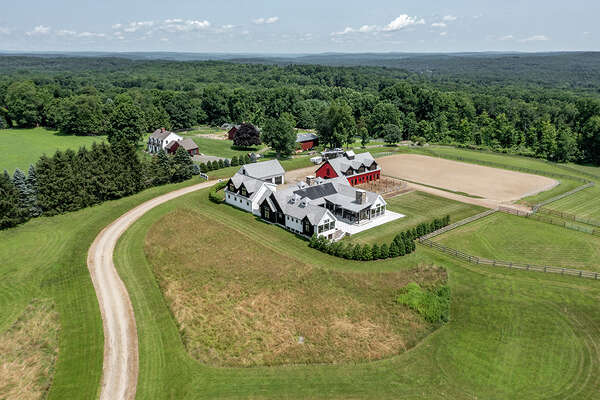 The home on 159 Brushy Hill Road in Newtown, Conn. was built in 2015 on 9.2 acres of land that was previously a hayfield.