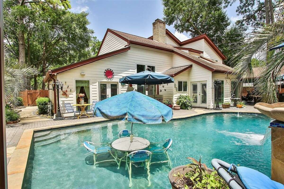 This unique property located at 11907 Fawnview Drive in Northwest Houston, recently hit the market for $350,000 touting animal-themed decor, an elaborate outdoor living space and a Texans-themed room.