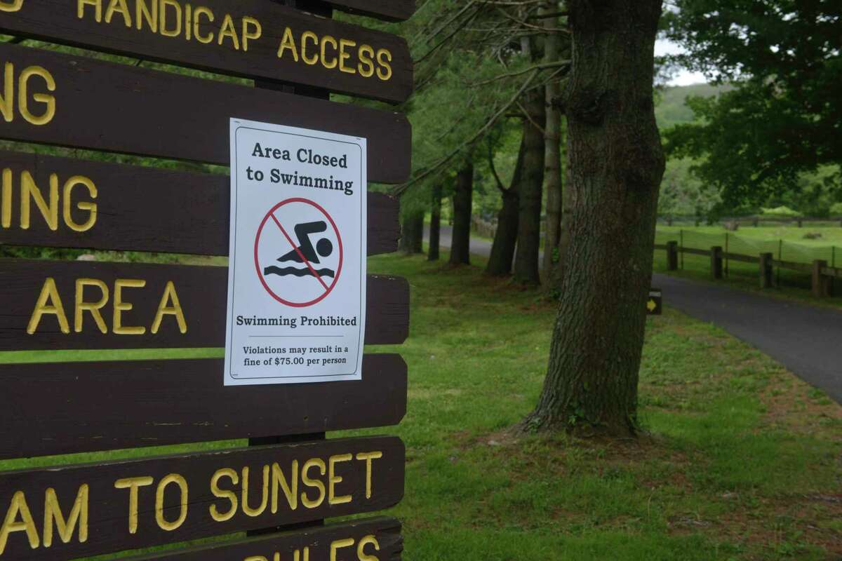 Due to poor water quality, Squantz Pond State Park in New Fairfield, Conn., is closed to swimming Aug. 4.