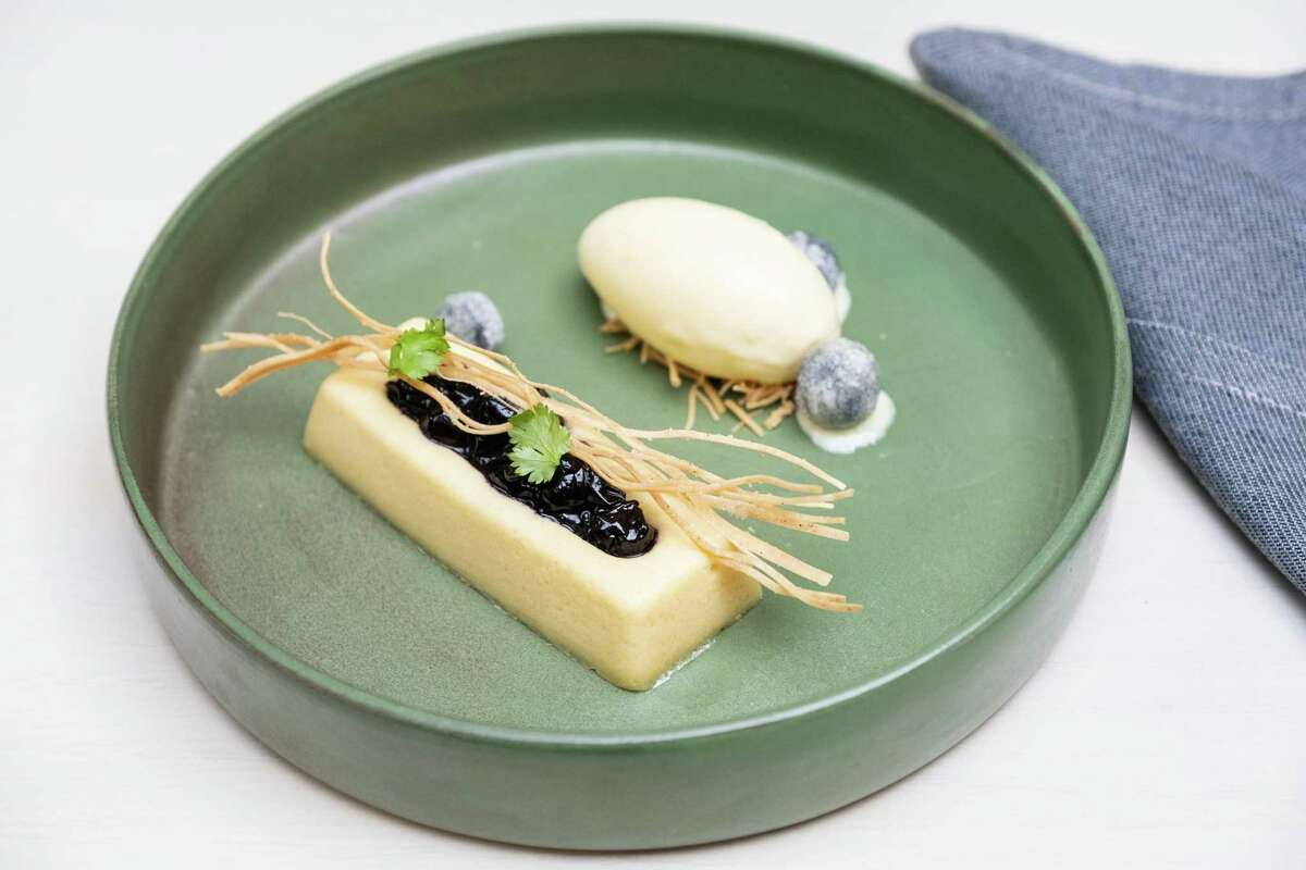 Creamy corn is one of Chef Francis Ang's signature desserts.  It will be on the opening menu at Abacá in San Franciosc.