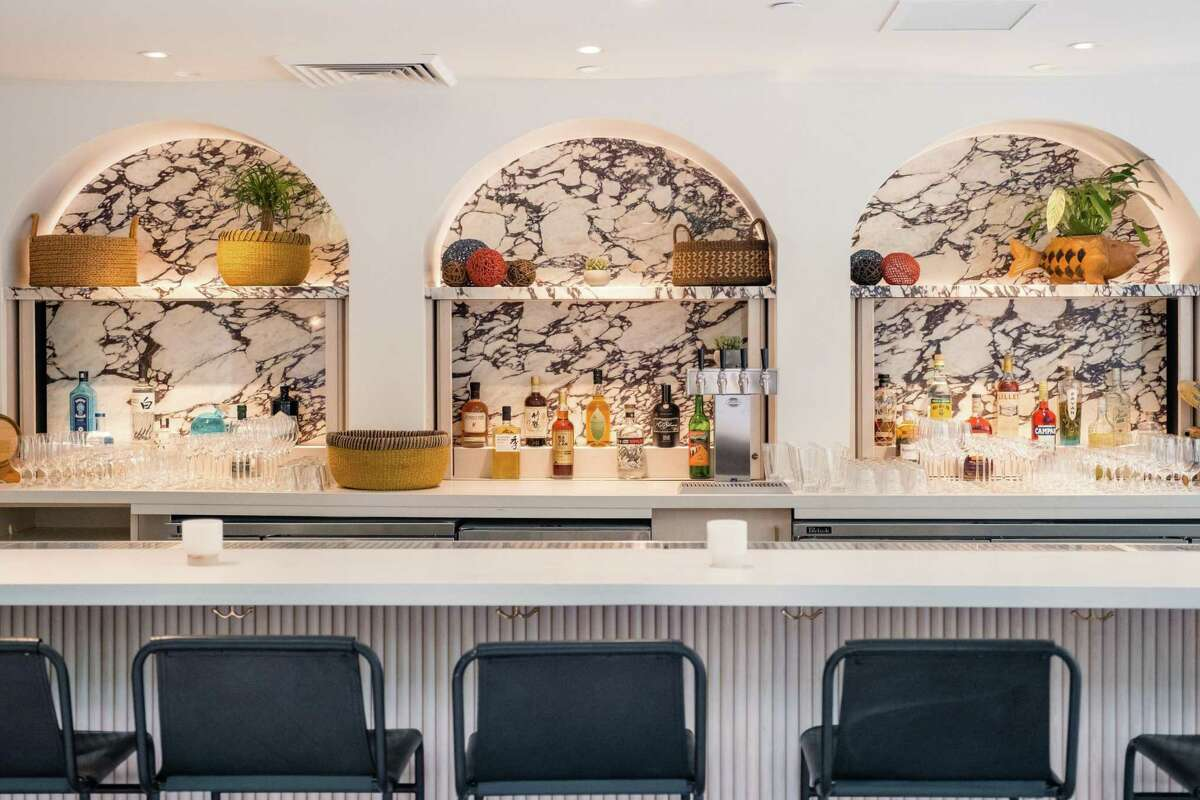 The bar at Abacá, which will feature cocktails made with Filipino ingredients like pandan.