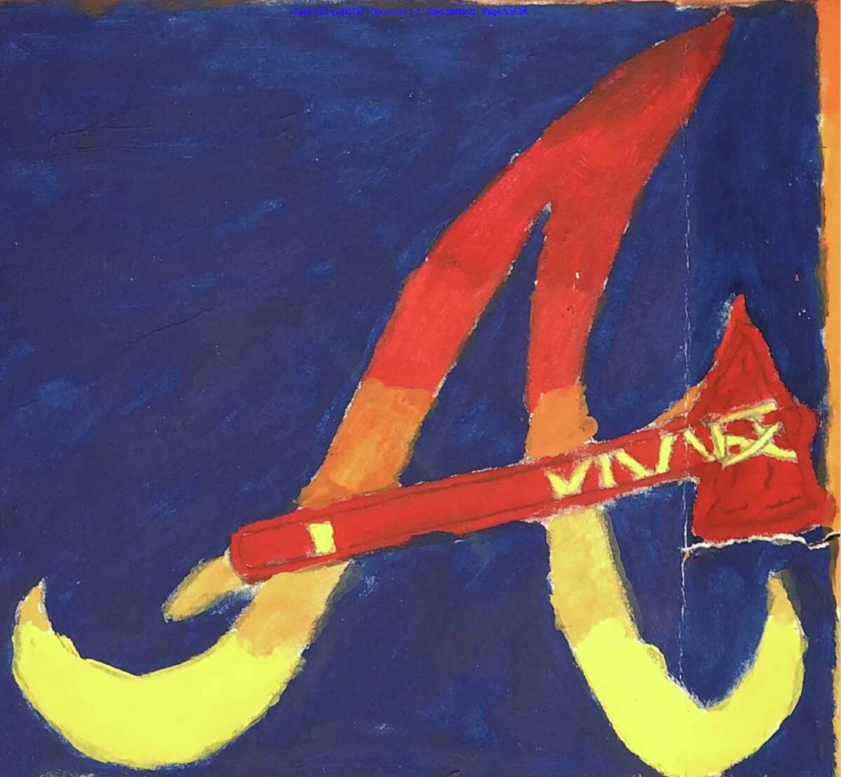 """Jose Rodriguez, a member of the San Antonio Police Department's Rapid Response Team, alleges in a lawsuit that as part of a high school art class project in 2002, he added a tomahawk to the crossbar of the Atlanta Braves' stylized script """"A"""" and submitted it to the team. The team declined the offer. Braves players worn an alternate cap featuring the tomahawk crossbar from 2007 to 2017, the website SportsLogos.net shows. Rodriguez is now suing the Braves and Major League Baseball for copyright infringement."""