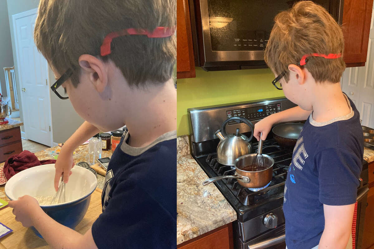Mixing and stirring up the cupcakes