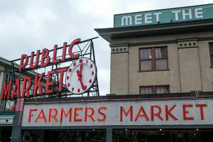 SEATTLE, WA - NOVEMBER 5: The entrance to Pike Place Market is viewed on November 5, 2015, in Seattle, Washington. Seattle, located in King County, is the largest city in the Pacific Northwest, and is experiencing an economic boom as a result of its European and Asian global business connections. (Photo by George Rose/Getty Images)